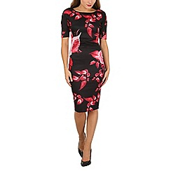 AX Paris - Multicoloured 3/4 sleeve bodycon dress