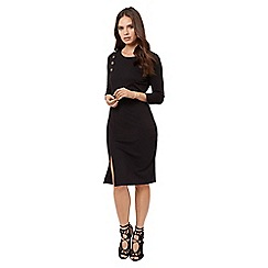 Jane Norman - Black button detail dress