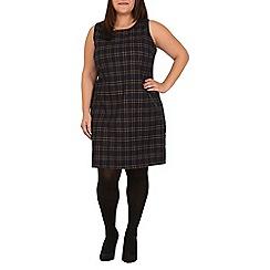 Samya - Navy contrast pocket shift dress
