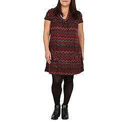 Samya - Red geo print tunic dress