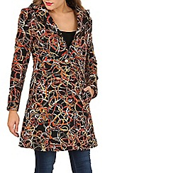 Izabel London - Multicoloured long sleeve textured coat