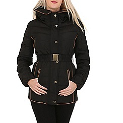 David Barry - Black faux down quilted jacket