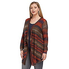 Roman Originals - Multicoloured stripe knit cardigan