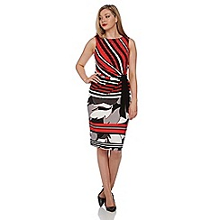 Roman Originals - Red jersey print tie dress