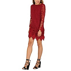Mela - Burgundy lace detail dress