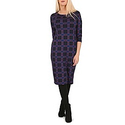 Indulgence - Navy 3/4 sleeve midi dress