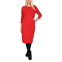 Indulgence - Red 3/4 sleeve midi dress