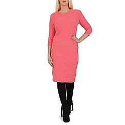Indulgence - Pink 3/4 sleeve midi dress
