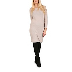 Indulgence - Beige midi jumper dress