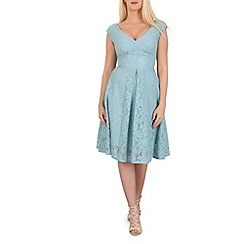 Jolie Moi - Green sweetheart neck lace dress