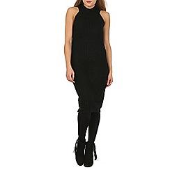 Stella Morgan - Black knitted high necked dress