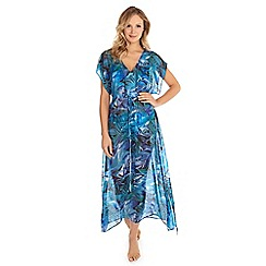 Seaspray - Green ruth tropical maxi dress