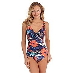 Seaspray - Navy frida floral swimsuit