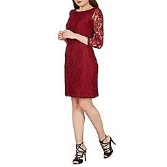 Solo - Wine lace shift dress