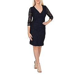 Solo - Navy isabella lace wrap dress