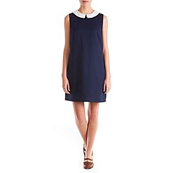 Sugarhill Boutique - Navy chloe collar jacquard dress