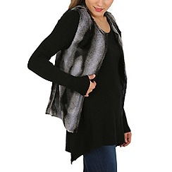 Mela - Grey faux fur gilet