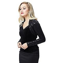 Jane Norman - Black sequin shrug