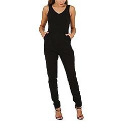 Mela - Black structured jumpsuit