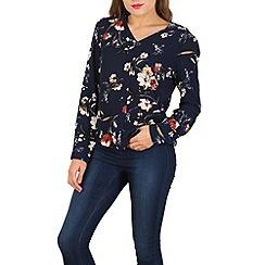 Izabel London - Blue floral print blouse