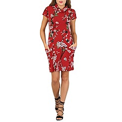 Izabel London - Red oriental print tunic dress