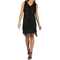 Izabel London - Black fringe flapper dress