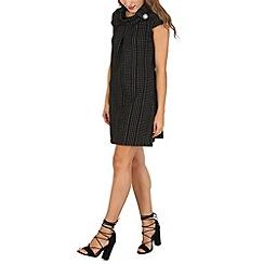 Izabel London - Black stripe print shift dress