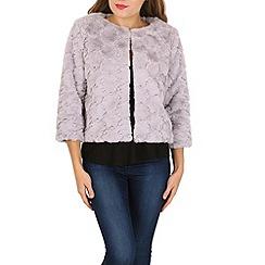 Izabel London - Grey faux fur jacket