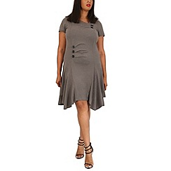 Samya - Light grey button detail dress