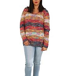 Samya - Red knit v-neck jumper