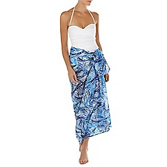 Seaspray - Blue Fiji chiffon printed pareo