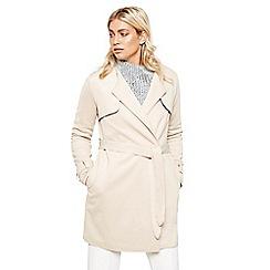 Bellfield - Cream scuba trench coat