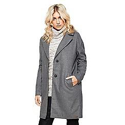 Bellfield - Dark grey wool blended cocoon coat