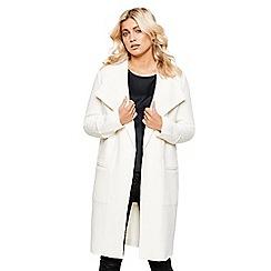 Bellfield - Cream textured duster coat