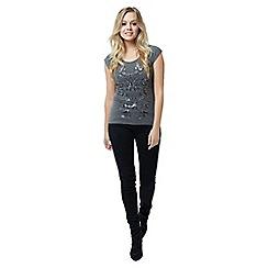 Jane Norman - Grey Lace Back T-Shirt
