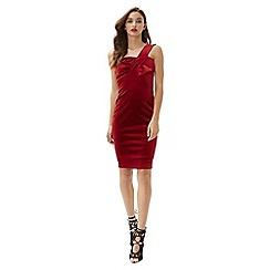 Jane Norman - Red velvet bow dress