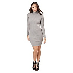 Jane Norman - Grey cable jumper dress