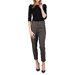 Jane Norman - Multicoloured bonded lace cigarette trousers