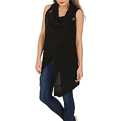 Mela - Black sleeveless knitted gilet