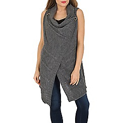Mela - Grey sleeveless knitted gilet