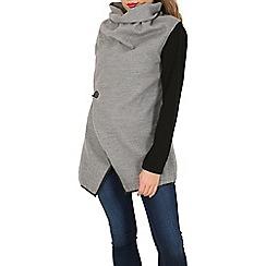 Mela - Grey buckle waterfall jacket