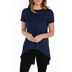Alice & You - Navy split back dip hem blouse
