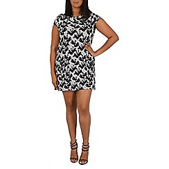 Samya - Black swan print dress