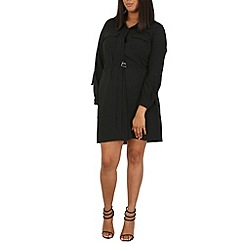 Samya - Black bubble belt shirt dress