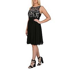 Izabel London - Black sequin detail ocassion dress