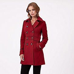 Jane Norman - Dark red fit and flare coat