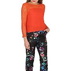 Cutie - Orange lace top
