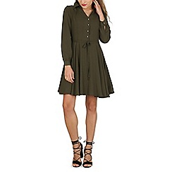 Cutie - Green a-line shirt dress