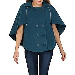 Cutie - Turquoise cape jacket