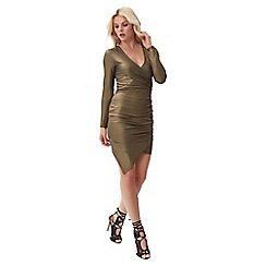 Jane Norman - Gold wrap metallic dress